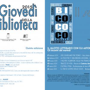 Eventi Biblioteca Colognola