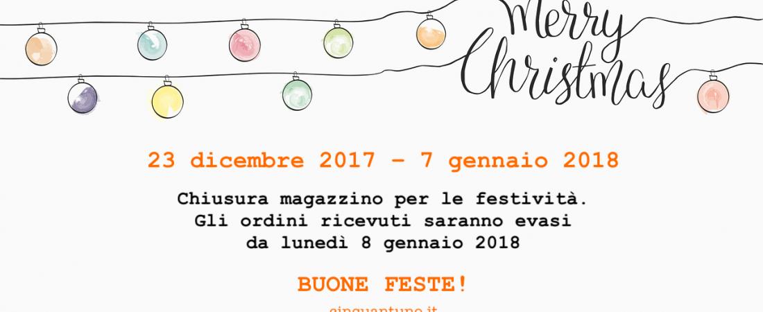 Chiusura festività natalizie 2017/18