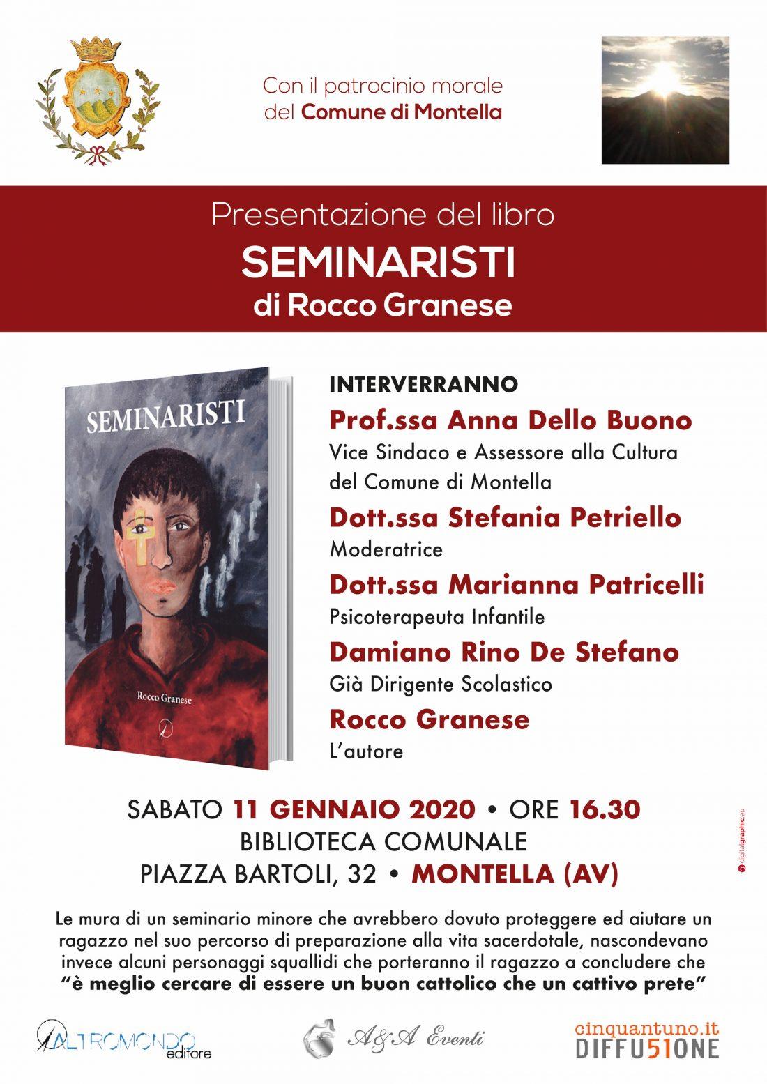 """Presentazione del libro """"Seminaristi"""" di Rocco Granese"""