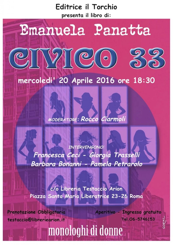 Emanuela Panatta presenta Civico 33 a Roma