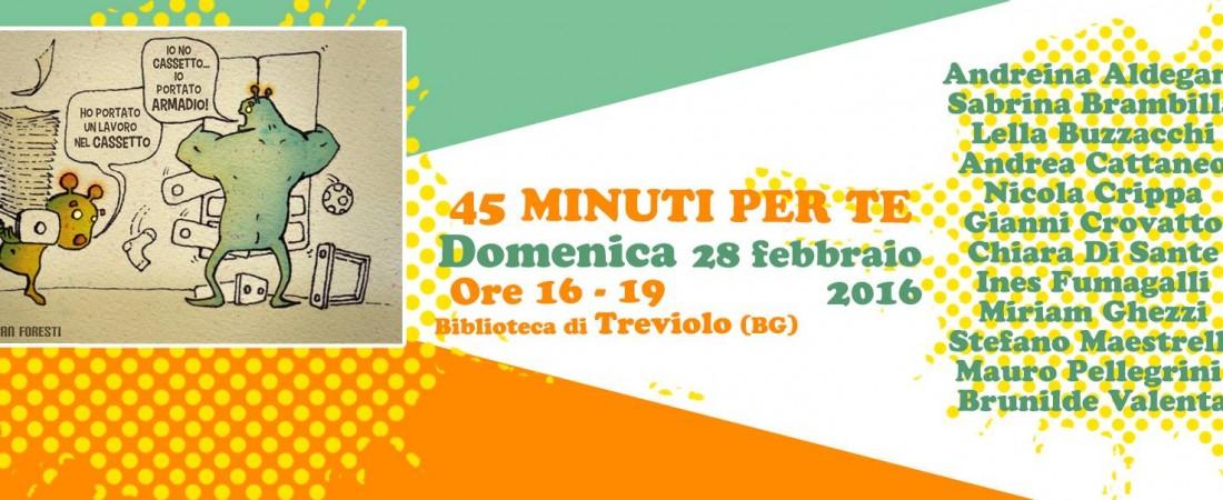 45 minuti per te – Festival degli autori emergenti a Treviolo