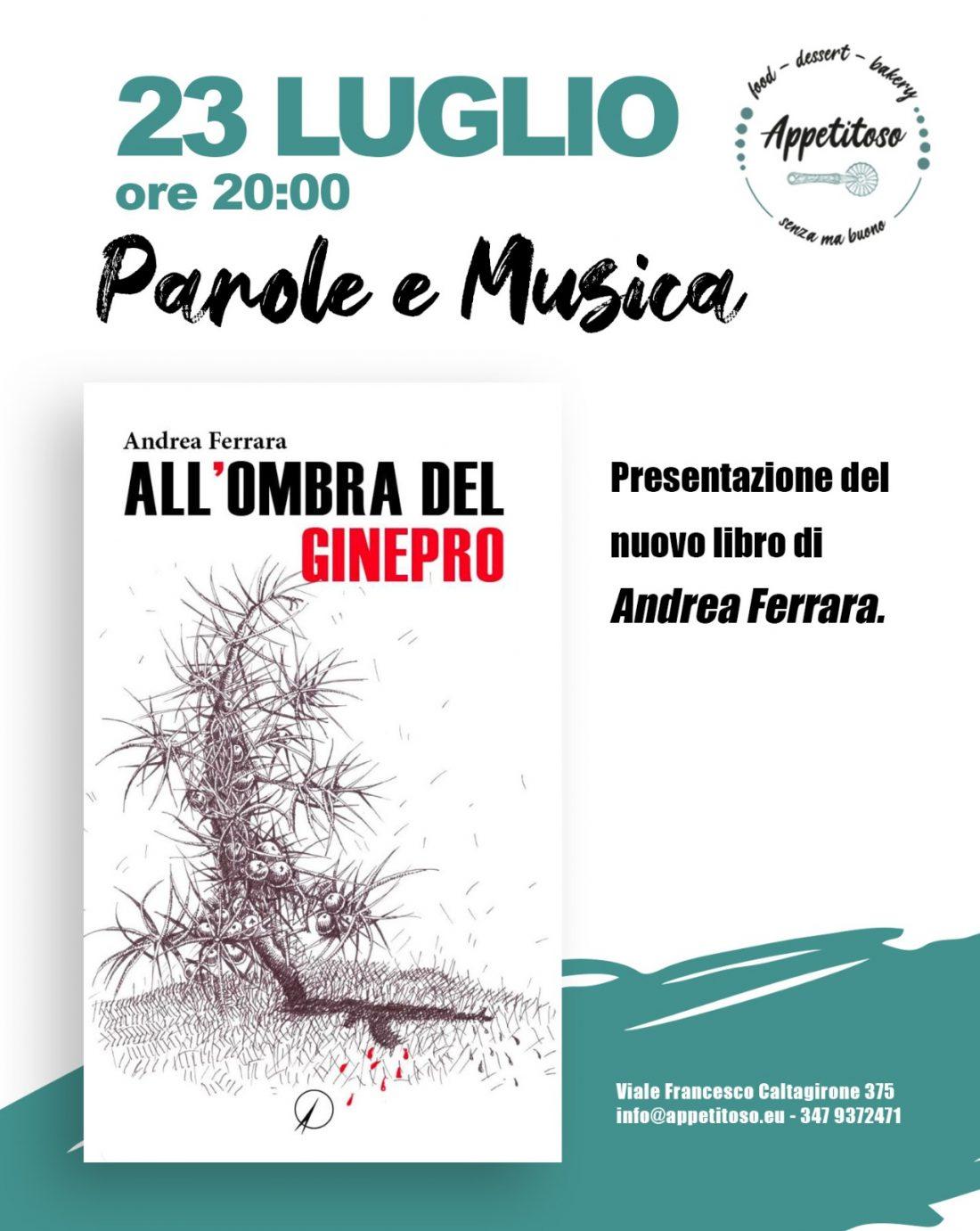 """Presentazione: """"All'ombra del ginepro"""" di Andrea Ferrara"""