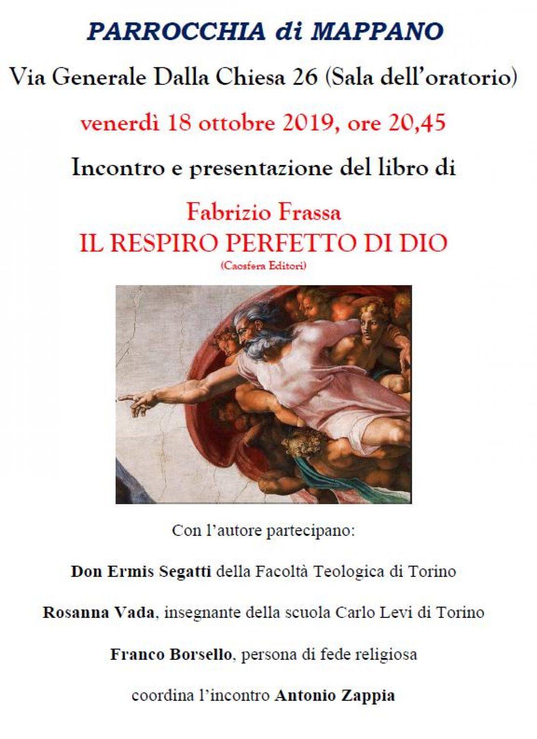 """Presentazione: """"Il respiro perfetto di Dio"""" di Fabrizio Frassa"""