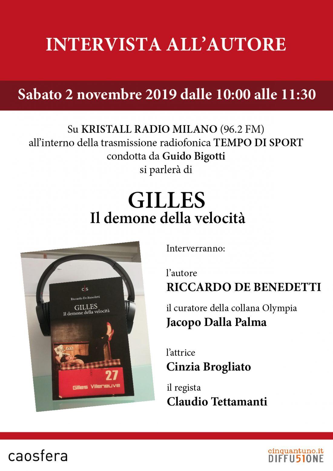 """Intervista a Riccardo De Benedetti, autore di """"Gilles"""""""