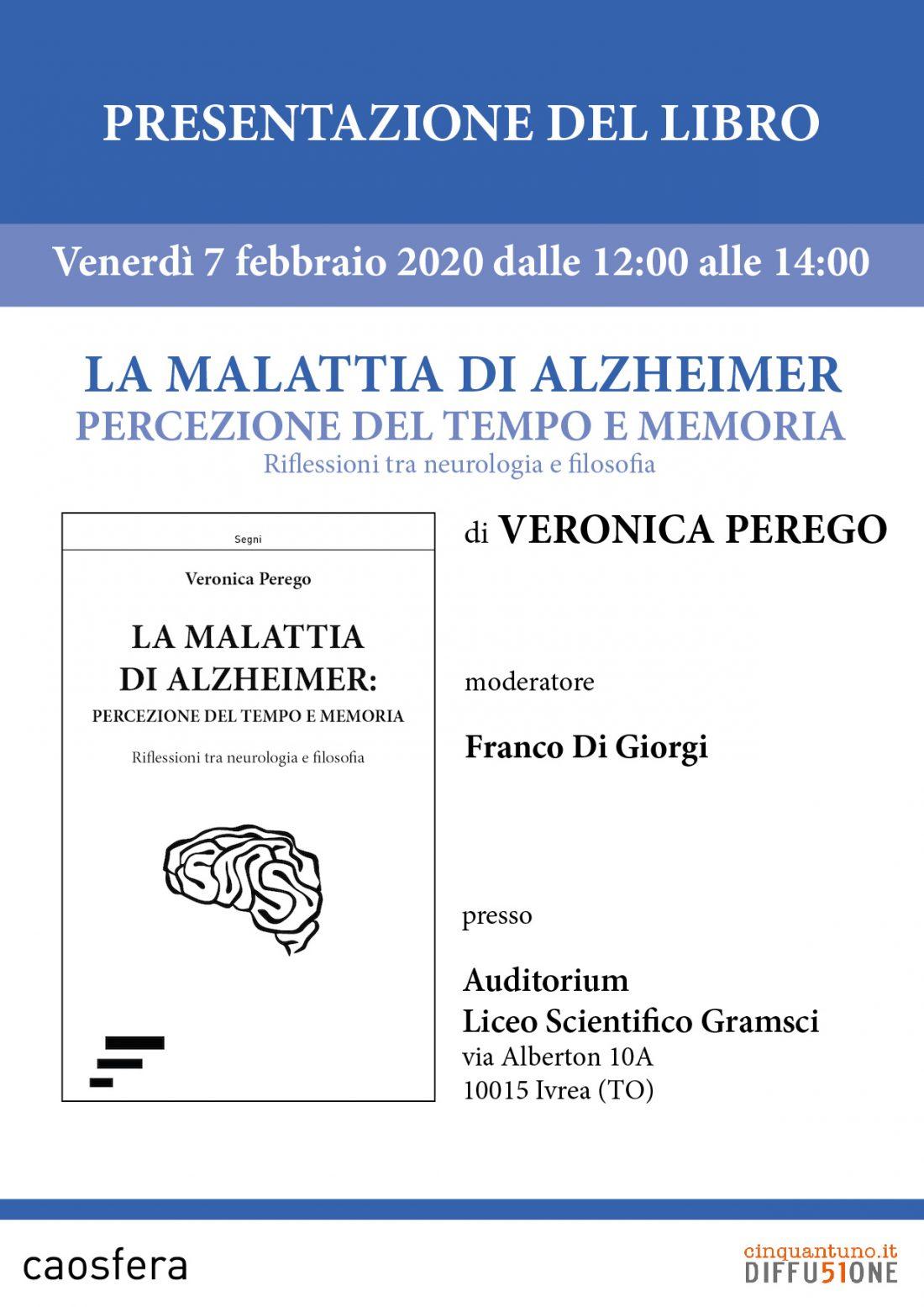 """Presentazione del saggio """"La malattia di Alzheimer"""" di Veronica Perego"""