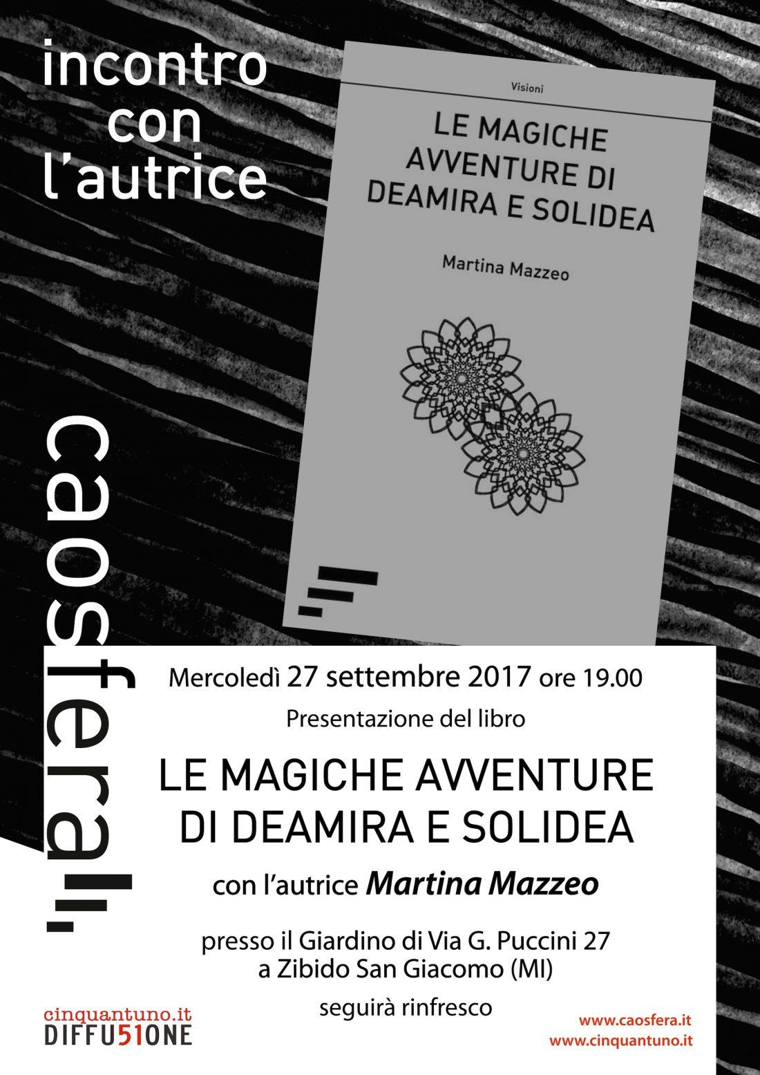 """Presentazione: """"Le magiche avventure di Deamira e Solidea"""""""