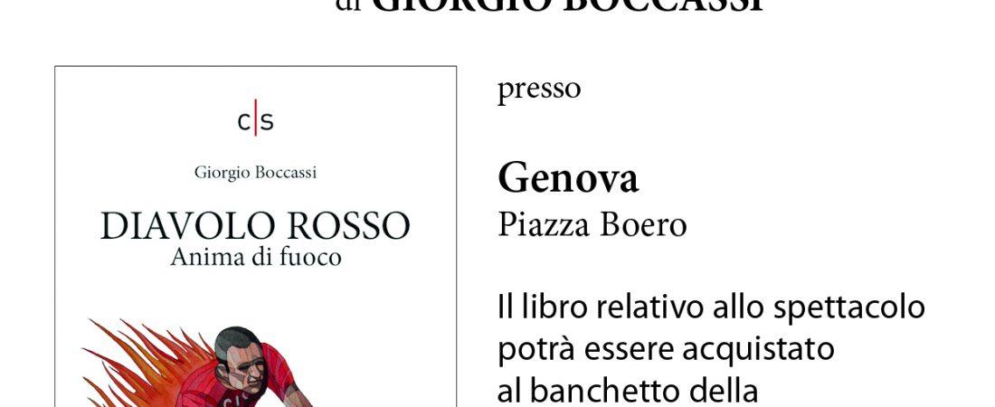 """Spettacolo letterario: """"Diavolo Rosso"""" di Giorgio Boccassi"""