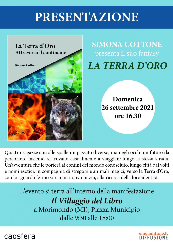 """Presentazione del libro """"La Terra d'Oro"""" di Simona Cottone"""