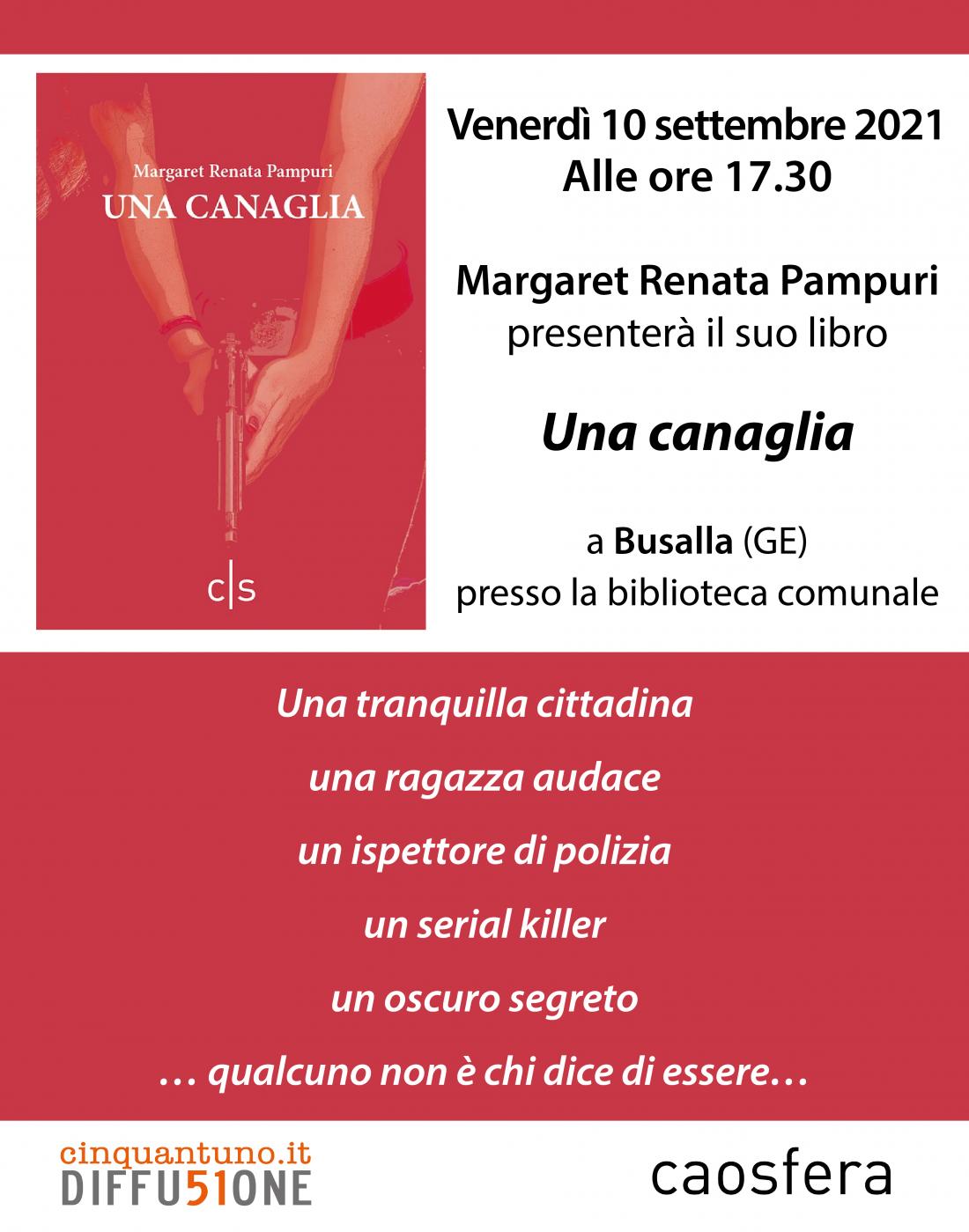 "Presentazione di ""Una canaglia"" di Margaret Renata Pampuri"