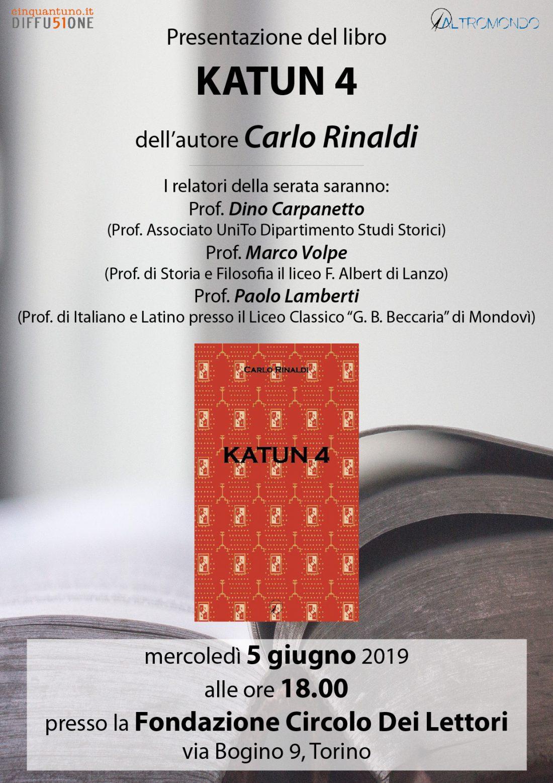 """Presentazione del romanzo """"Katun 4"""" di Carlo Rinaldi"""