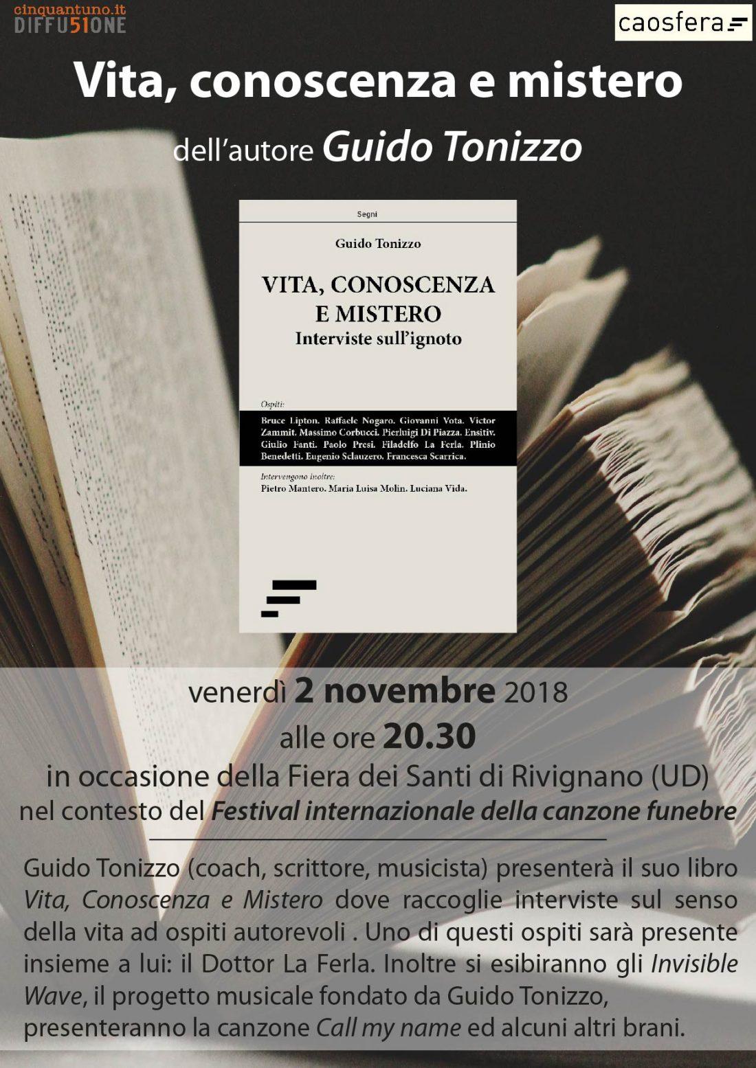 Presentazione del libro Vita, conoscenza e mistero di Guido Tonizzo