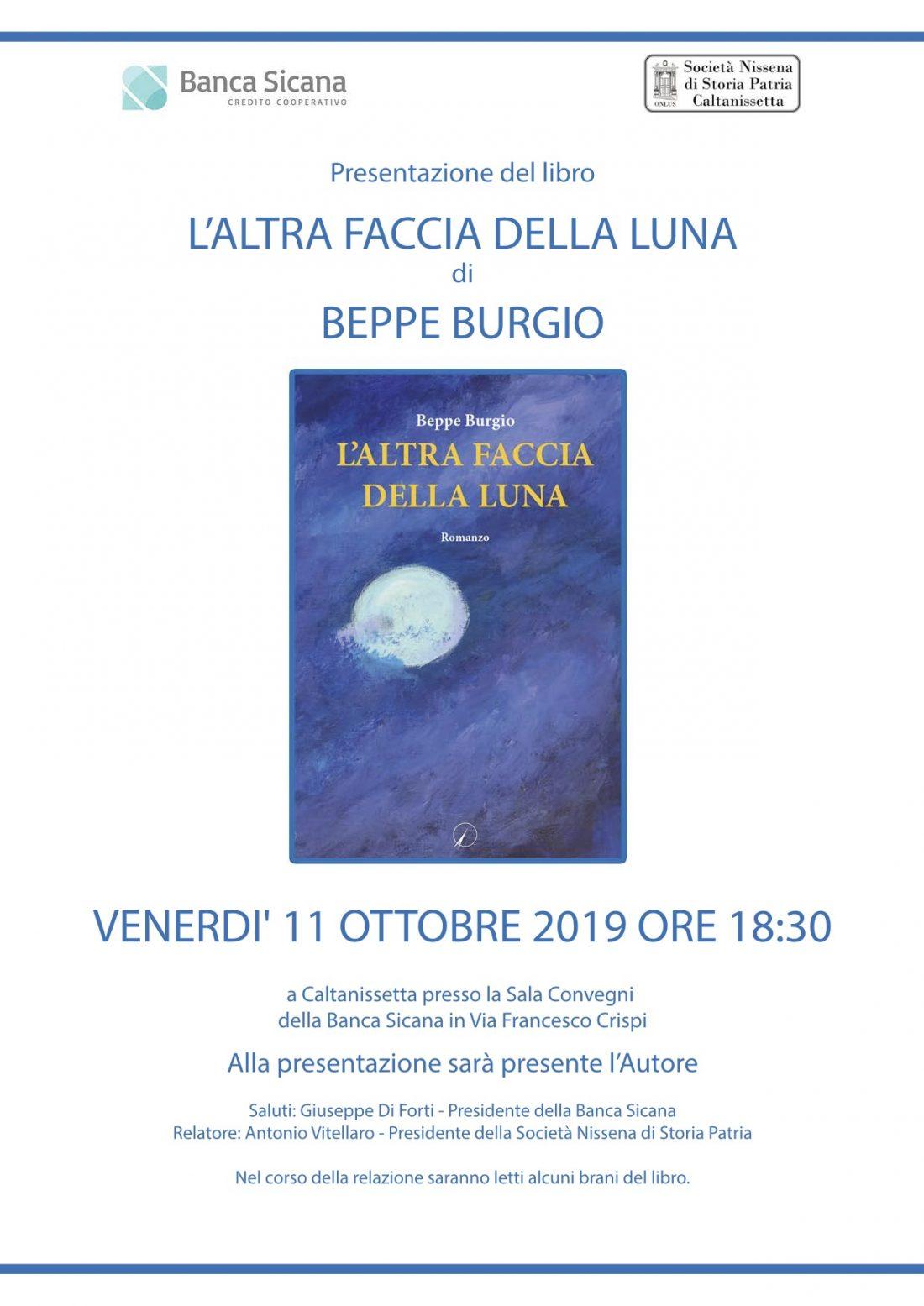 """Presentazione: """"L'altra faccia della luna"""" di Beppe Burgio"""