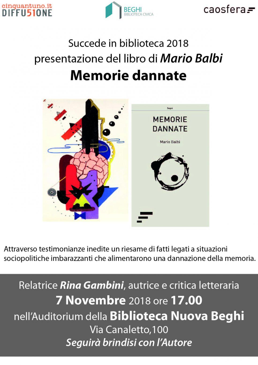 """Presentazione del libro """"Memorie dannate"""""""