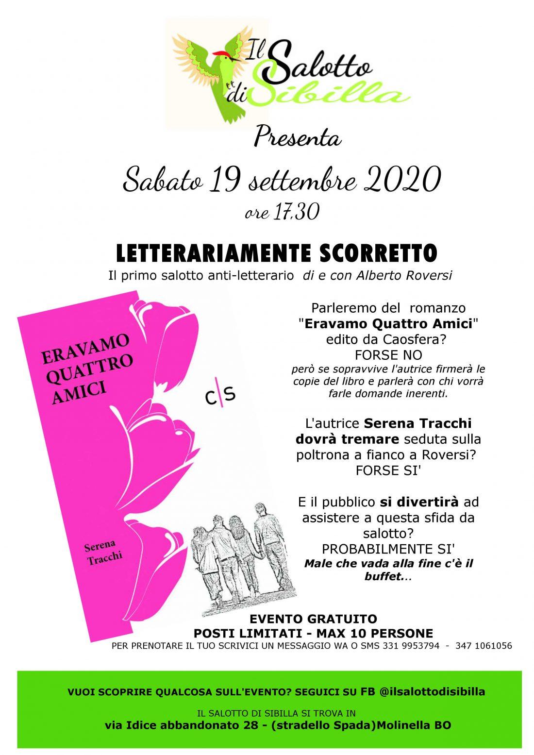 """Presentazione del libro """"Eravamo quattro amici"""" di Serena Tracchi"""