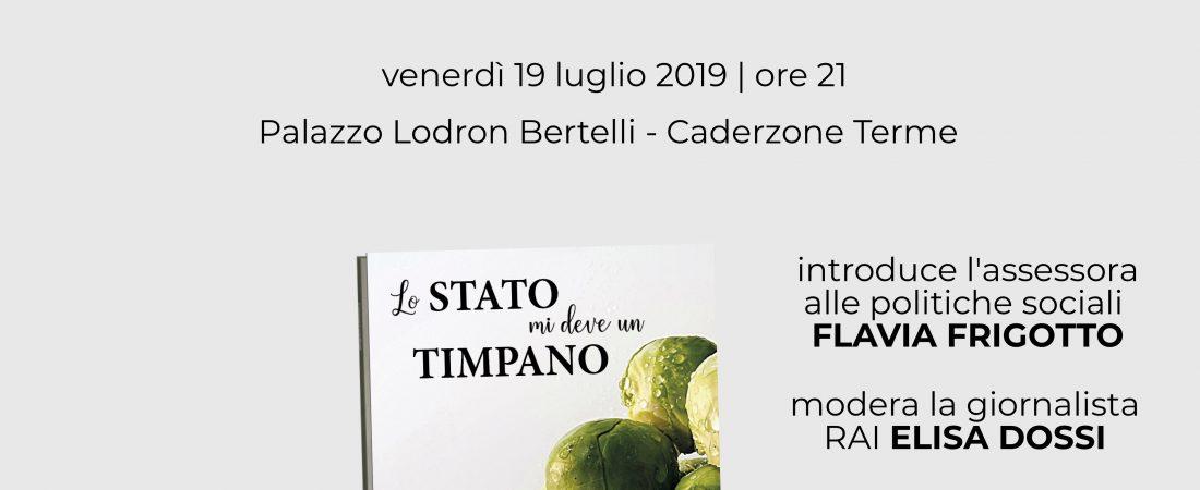 """Presentazione: """"Lo Stato mi deve un timpano"""" di Cristina Castellani"""