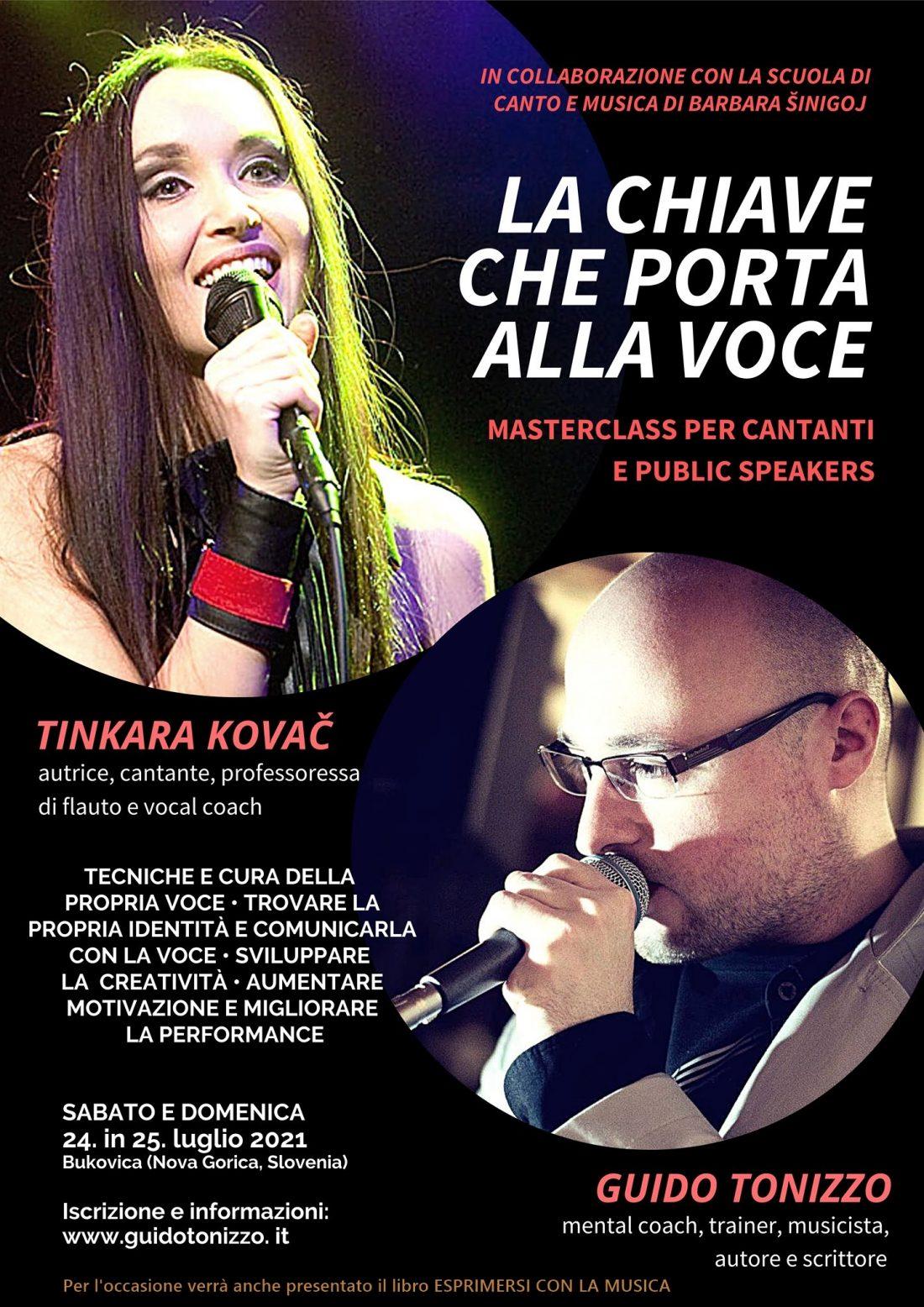 """Presentazione e corso: """"Esprimersi con la musica"""" di Guido Tonizzo, con Tinkara Kovač"""