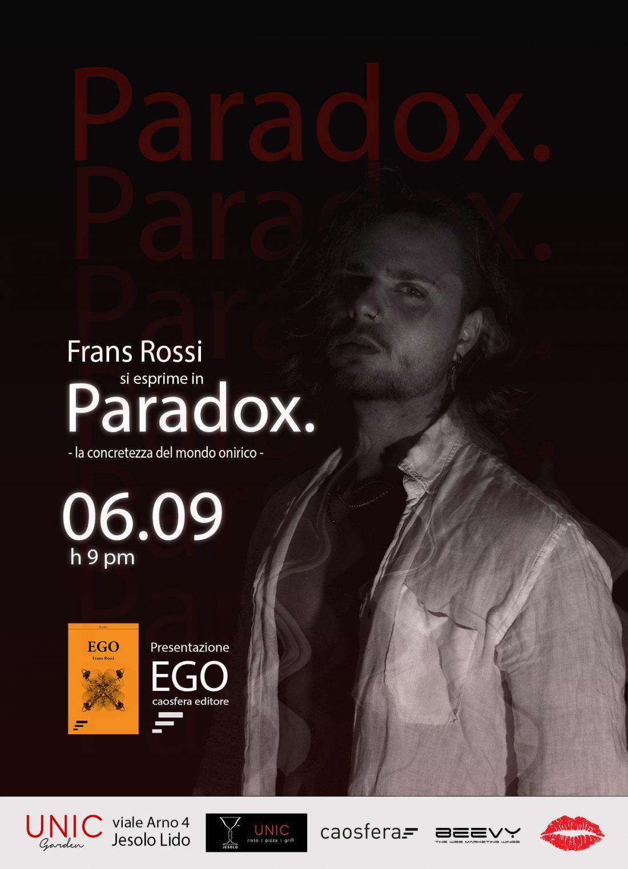 """Presentazione di """"Ego"""" di Frans Rossi"""